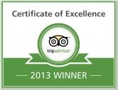 Trip  Advisor Award 2013